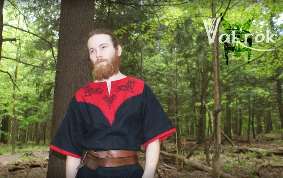 On order only* by Val/'R\u00f6k costume LARP medieval celtic linen cotton NORTHANN Tunic celtic *shipping include