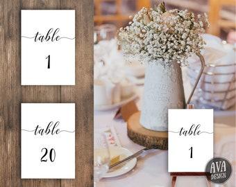 PRINTABLE Table Numbers | Table Numbers Wedding | Table Numbers Printable | Table Numbers | Rustic Table Numbers | Wedding Table | WEDSIM