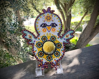 Easter Chick Bead Wall Art