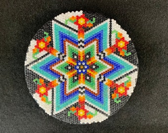 Coaster / Decor / Huichol Bead Art