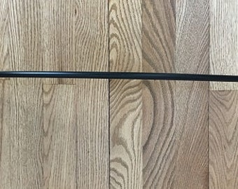 "Vintage Black Wrought Iron 24"" Towel Bar with Leaves"