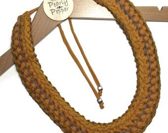 Crochet Bib Statement Necklace
