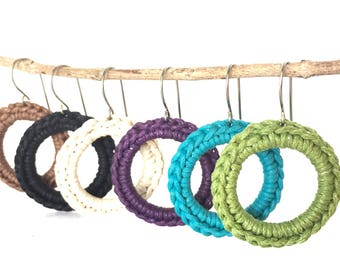 Simple Crochet Circle Earrings