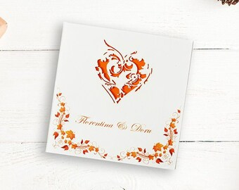 heart wedding invite etsy