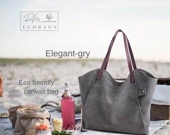 e26c31390 Premium Canvas Tote Bag, Choose Color Options, Ladies Accessory Purse,  Cotton Designer Handbag, Gifts for Mom, F1806