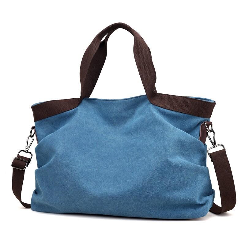 e317848f497b0 Cotton Canvas Tote Bag Premium Designer Handbag Choose Color