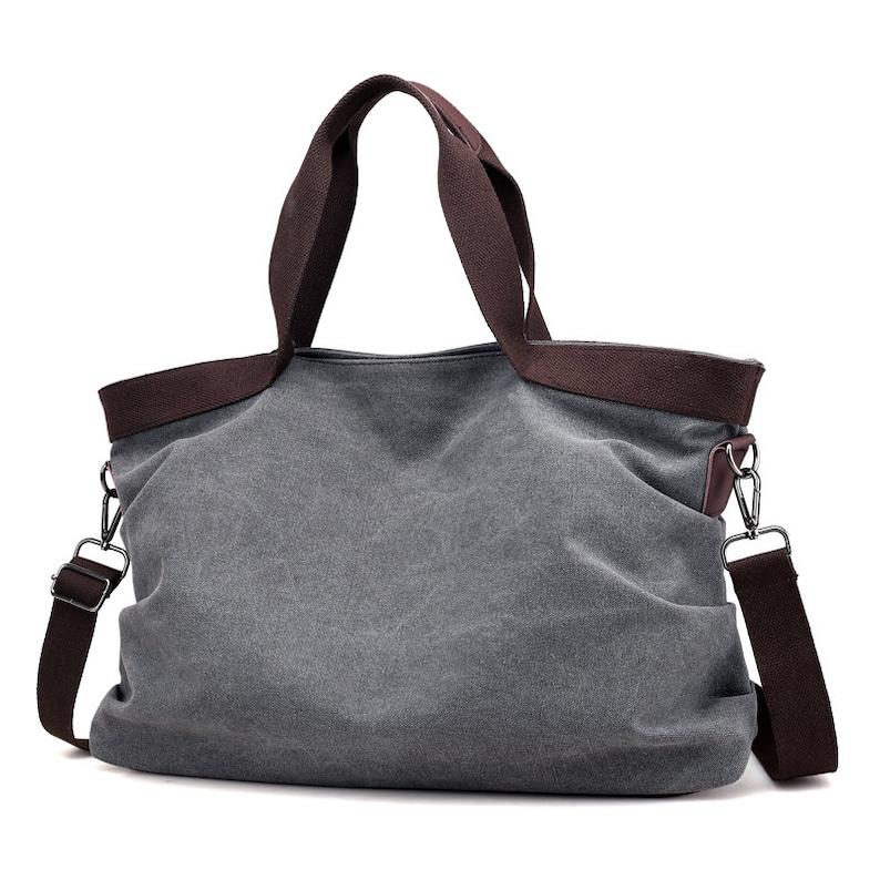 Ladies Purse F1801 Gifts for Mom Cotton Canvas Tote Bag Premium Designer Handbag Shoulder Bag Choose Color Options