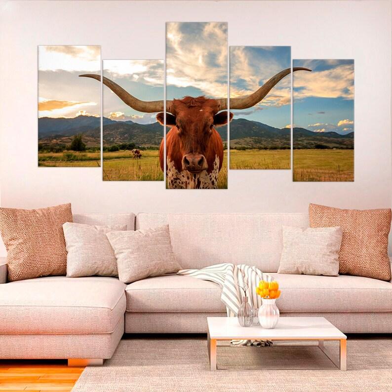 Ordinaire Texas Longhorn Decor Animal Print Fine Art Photography Bedroom Wall Art  Giclee Print Canvas Farmhouse Wall Decor Texas Multi Pieces Wall Art