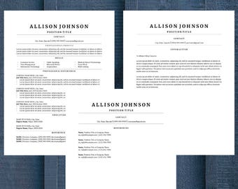 Classic Resume Template | CV Template | Professional Resume | Modern Resume | Resume Only