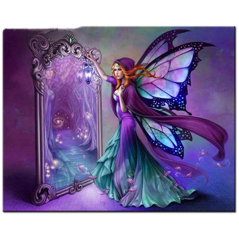 5D Diamond Painting Fairy Girl Embroidery Rhinestones Stitch Kit Home Decor