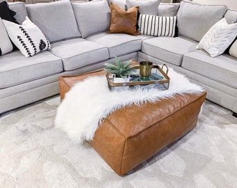 Wondrous Leather Ottoman Etsy Inzonedesignstudio Interior Chair Design Inzonedesignstudiocom