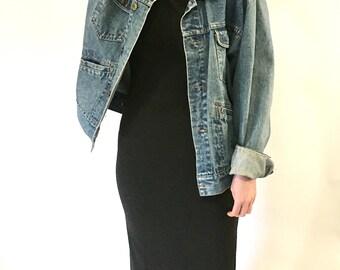 Vintage J. Crew Bodycon Dark Grey Dress