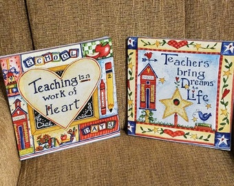 TEACHERS decorative wall hangings