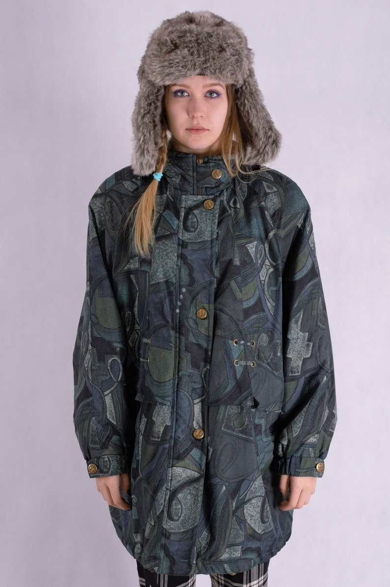 competitive price bfdb7 41d27 Vintage 90s long parka jacket • 90s parka•Old school parka•Vintage  clothing•90s jacket•Multi colour jacket•
