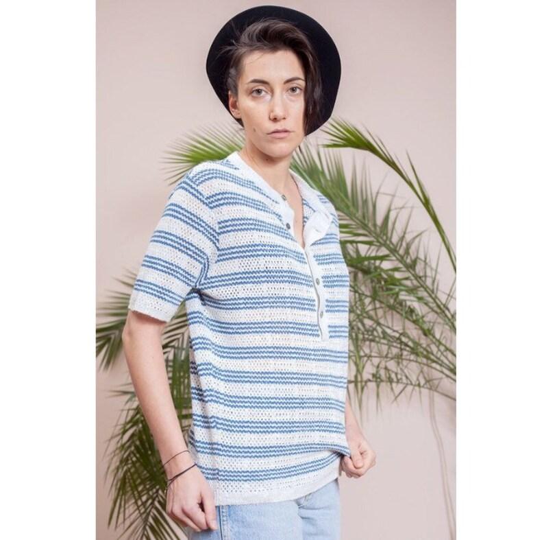 Vintage 70s short sleeve Sweater \u2022 Vintage knitted t-shirt \u2022 Vintage clothing