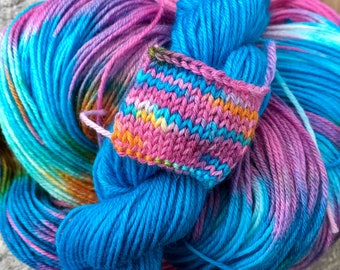 Candy Hearts Sock Yarn with Contrasting Mini Skein