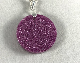Purple Glitter Pendant