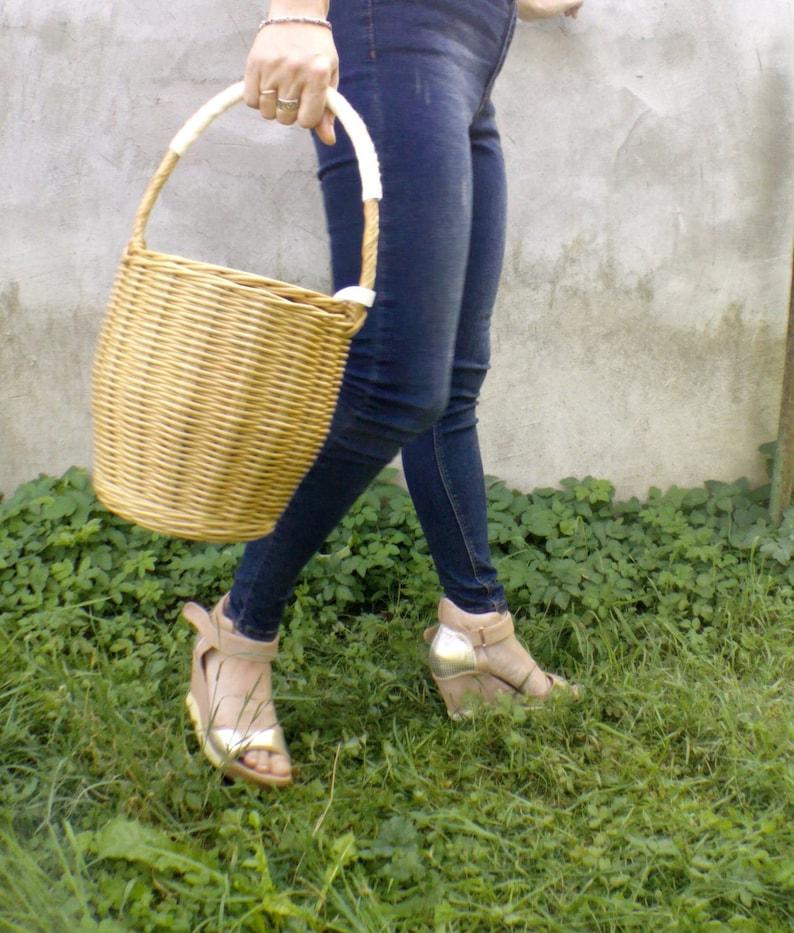 80f1323d7d Jane Birkin braided bag Wicker bag Basket Round wicker