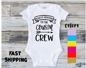 6867baf6b Cousins Onesie® | Newest Addition to the Cousin Crew | Cousin Baby Onesie®  | Cousin Shirt | Baby Onesie® | Cousin Announcement