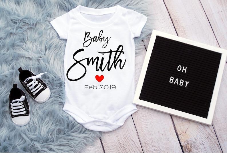 169fe92fca33 Baby Onesie Announcement Baby Announcement Onesie