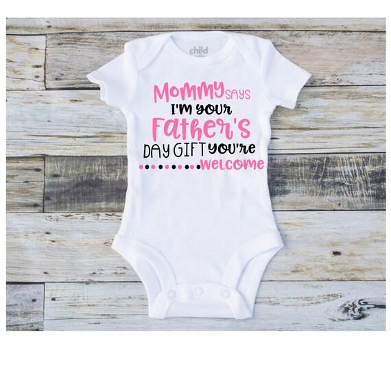 Vaderdag Onesie Vaderdag Cadeau Vaderdag Kleding Baby Baby Meisje Onesie Grappige Vaderdag Kleding Eerste Vaderdag