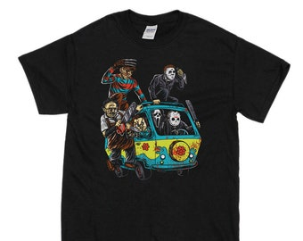 51422f2f Men's Halloween T-Shirt Massacre Mystery Machine T-Shirt Costume
