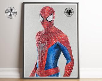 Amazing Spider-Man Drawing Print A4 - Artology