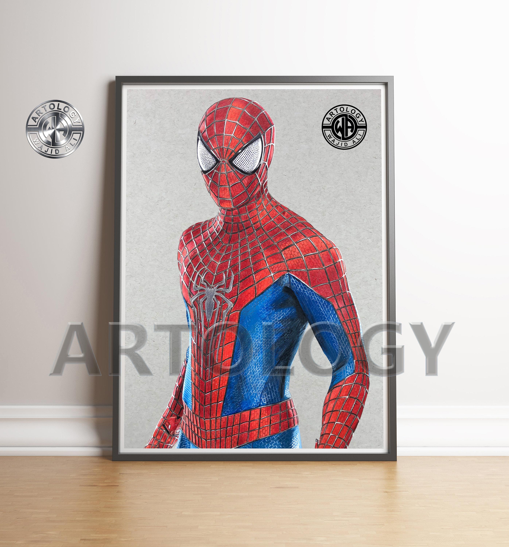 Amazing spider man drawing print a4 a3 artology