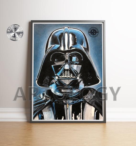 Dark Vador Star Wars Dessin Impression A4a3 Artology