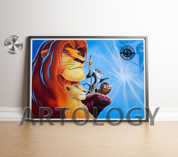 The Lion King A4  Framed Poster Print