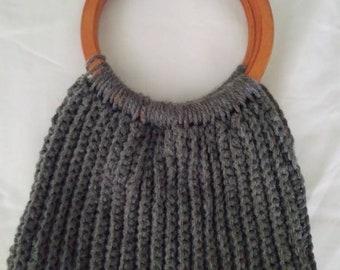 Small crochet handbag