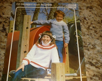 Yoke Sweater Pattern Bouquet Yarn Vintage