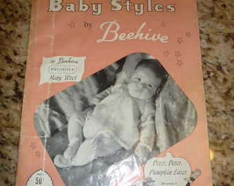 Vintage Patons & Baldwins Baby Styles by Beehive Knitting Pattern Booklet