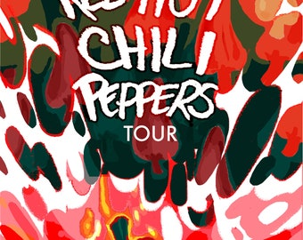 Red Hot Chili Peppers Poster Etsy