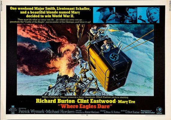 Reproduction Where Eagles Dare Movie Poster | Etsy