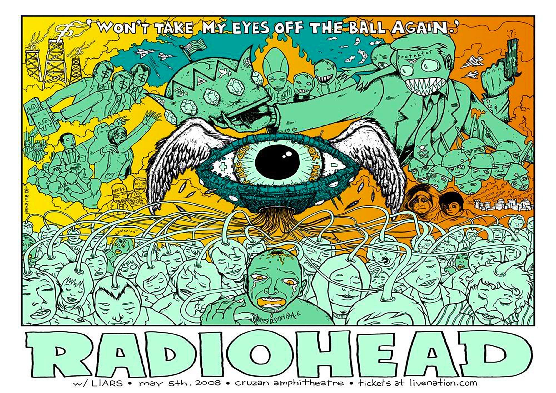 - Fast Shipping Beautiful Wall Poster Radiohead 30 in  x 20 in