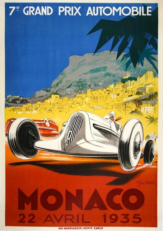 Pau Vintage motor racing advertising Reproduction poster Wall art.