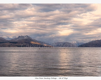 """Limited Edition Scottish Highlands, """"View From Sandaig Cottage"""" Print"""