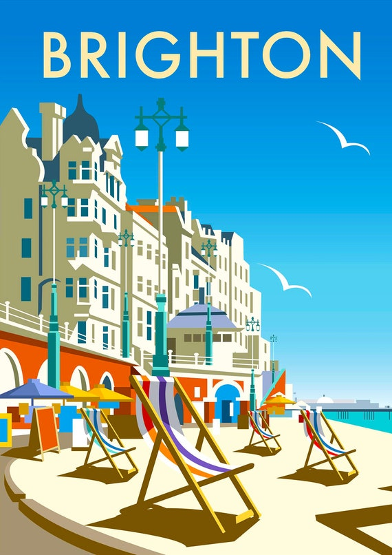 Brighton Vintage Travel poster reproduction Various sizes
