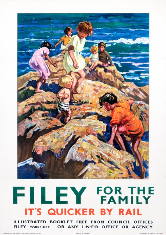 """/""""Cornwall/"""" Home Wall Art Reproduction Vintage Seaside Poster"""