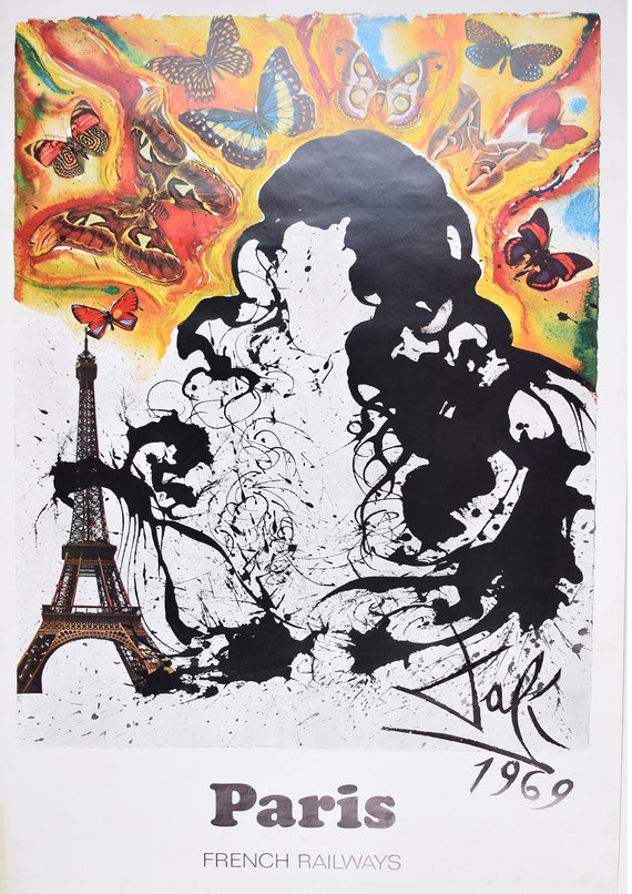 """Reproduction /""""Salvador Dali Home Wall Art Size A2 Zurich Exhibition/"""" Poster"""