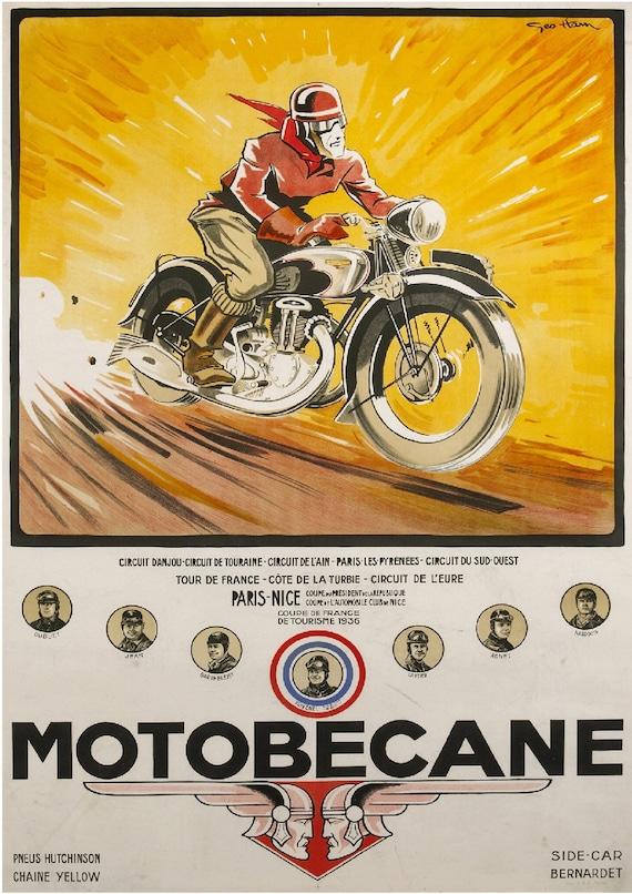 "Type Z2C/"" Reproduction Poster Home Wall Art Print Vintage /""Motobecane"