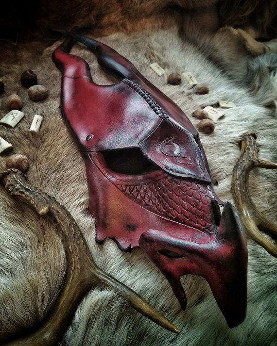Jormungandr Leather Mask