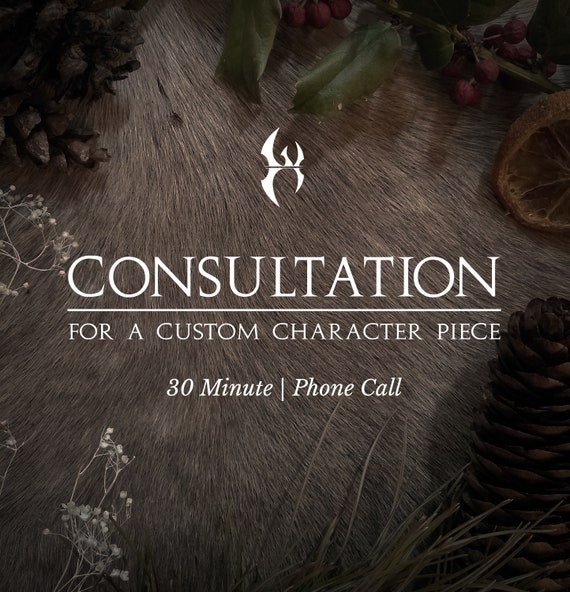 Consultation for a Custom Character Piece | 30 Minute Phone Call