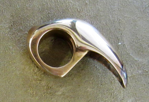 Polished Bronze Claw Ring