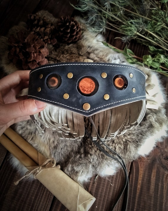 Moon Phase Leather Crown