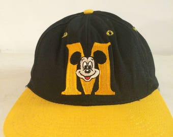 1990s Mickey Mouse Snapback Hat