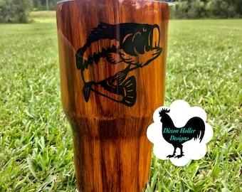 Wood grain Bass Tumbler