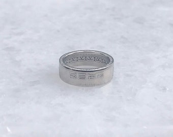 Coin adjustable ring Queen coin titanium steel ring