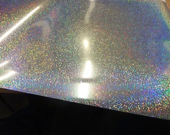 300m x 200mm T-Shirt Heat Press Transfer Vinyl Silver Holographic